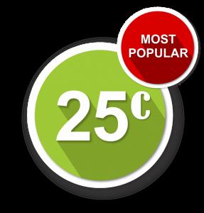 25c most popular