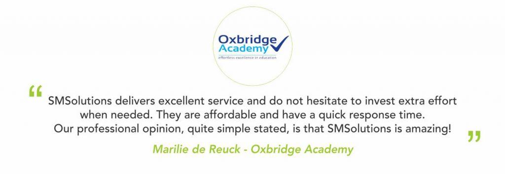 oxbridge testimonial